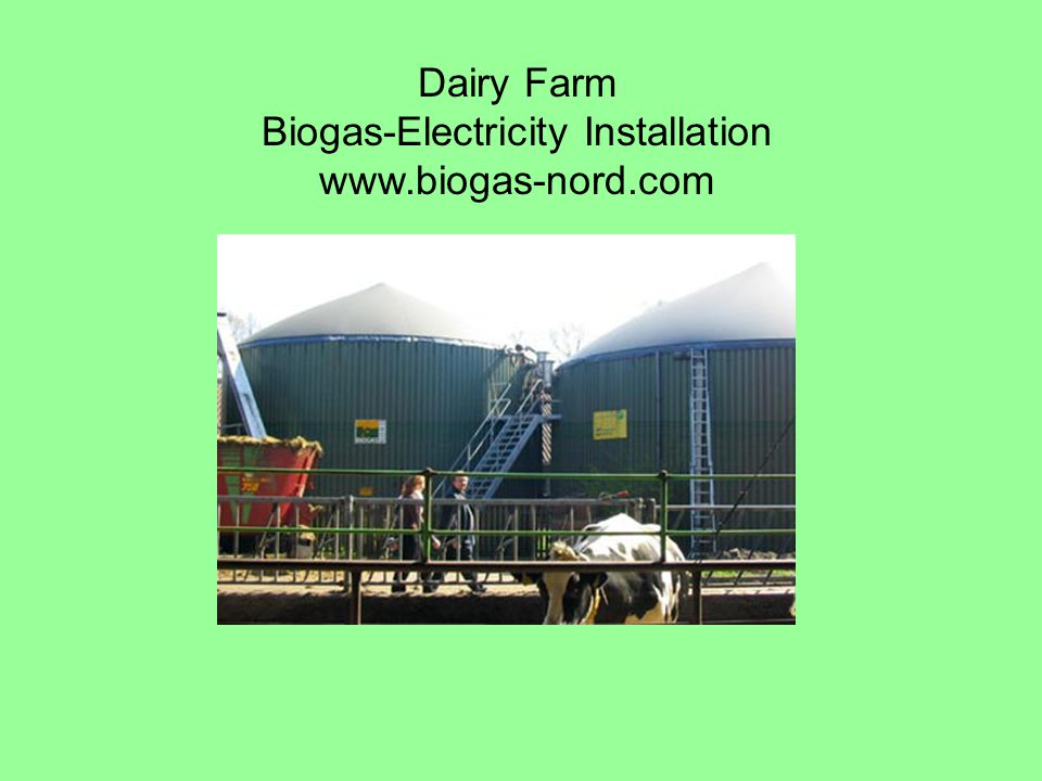 Dairy Farm Biogas-Electricity Installation