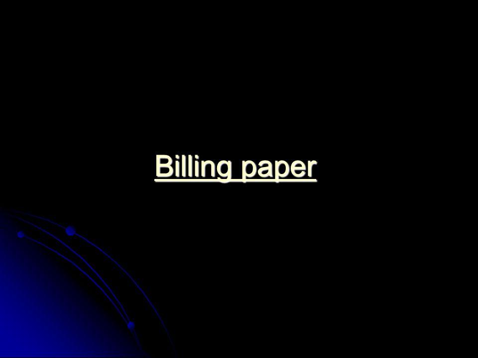 Billing paper