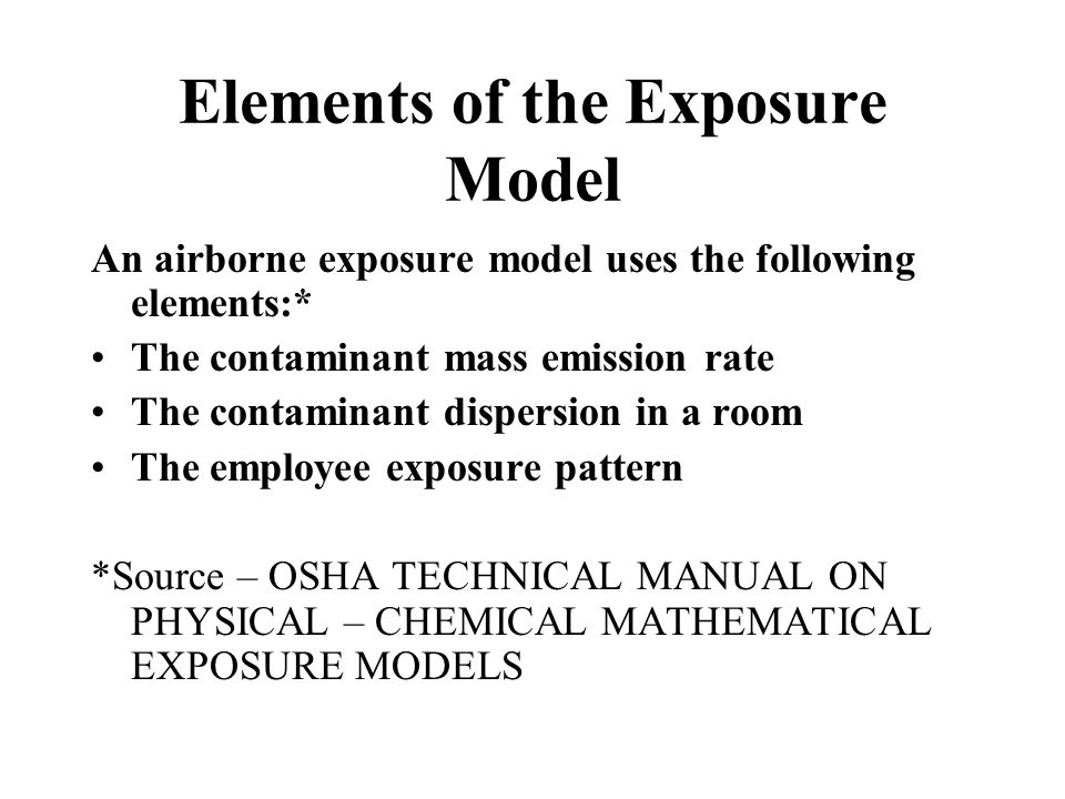 Elements of the Exposure Model