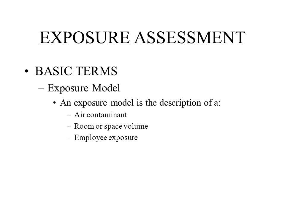 EXPOSURE ASSESSMENT BASIC TERMS Exposure Model