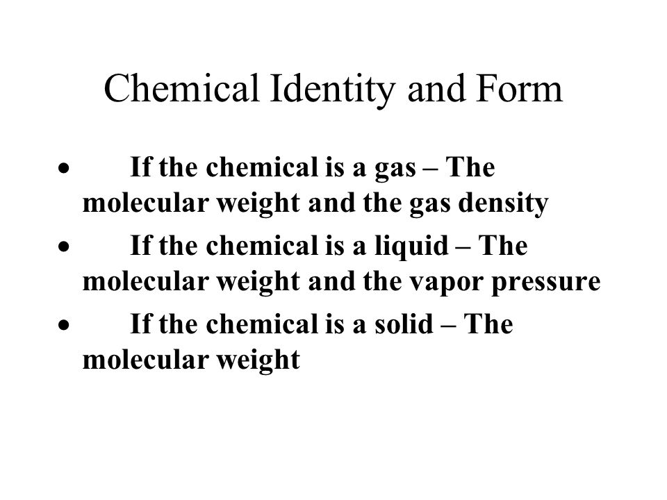 Chemical Identity and Form