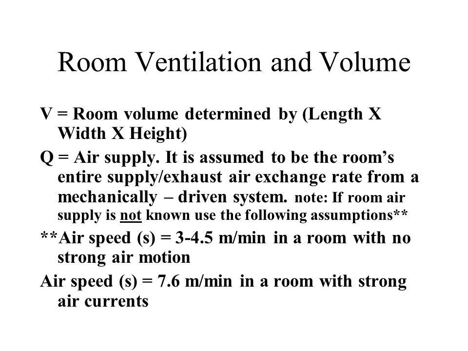 Room Ventilation and Volume