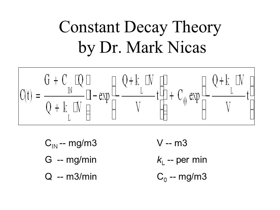 Constant Decay Theory by Dr. Mark Nicas