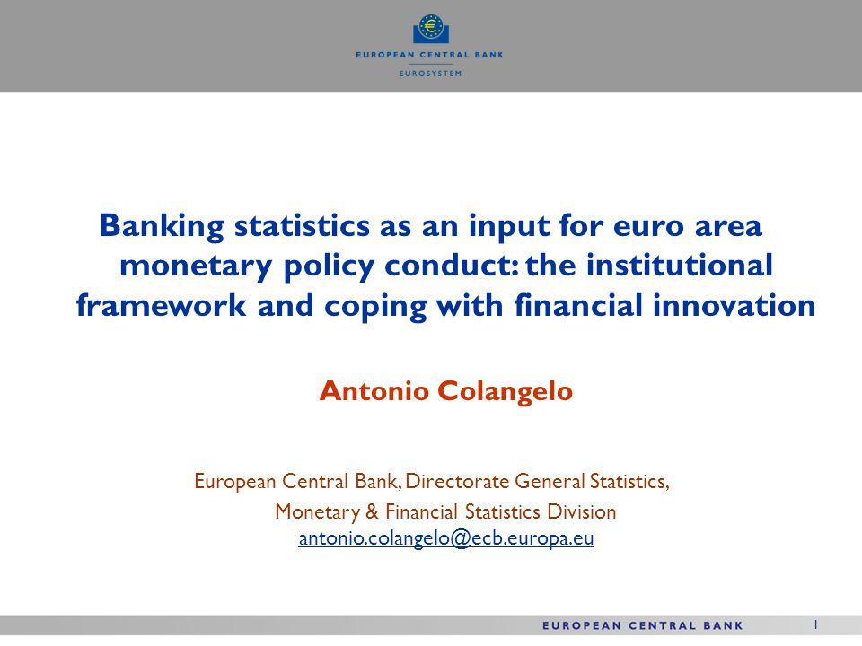 European Central Bank, Directorate General Statistics,