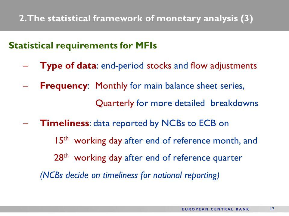 2. The statistical framework of monetary analysis (3)
