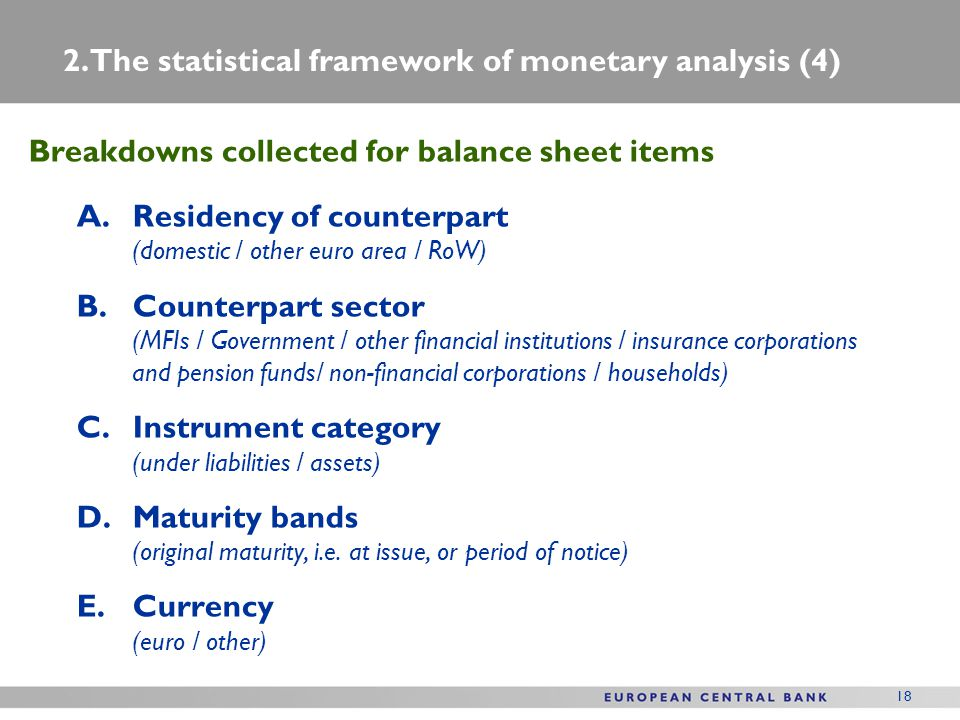 2. The statistical framework of monetary analysis (4)