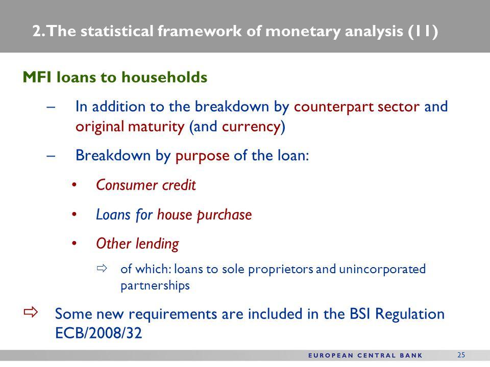 2. The statistical framework of monetary analysis (11)