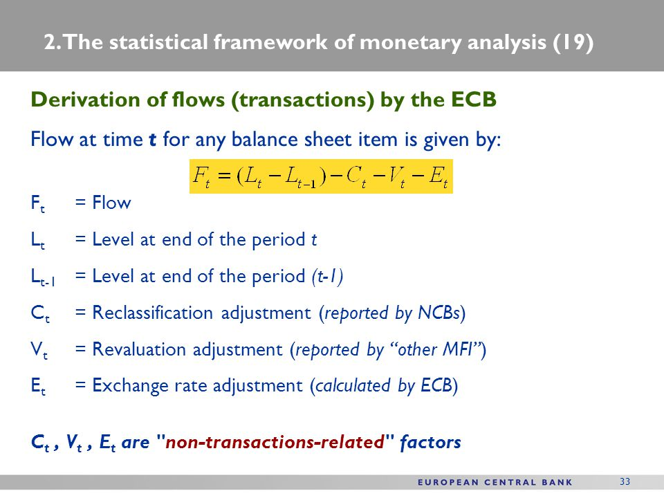 2. The statistical framework of monetary analysis (19)