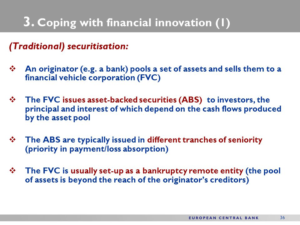 3. Coping with financial innovation (1)