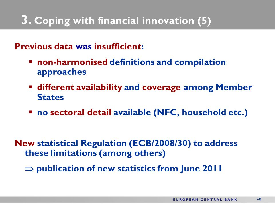3. Coping with financial innovation (5)