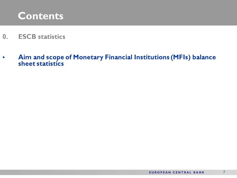 Contents 0. ESCB statistics