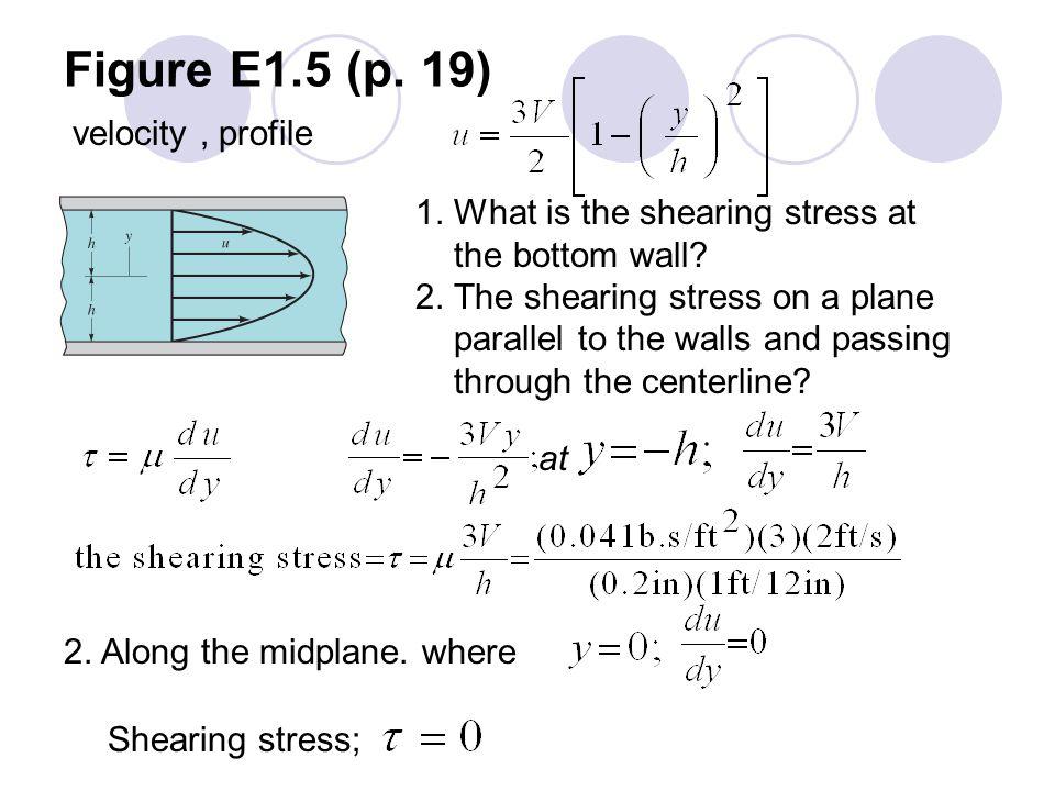Figure E1.5 (p. 19) velocity , profile