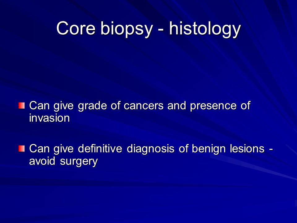 Core biopsy - histology