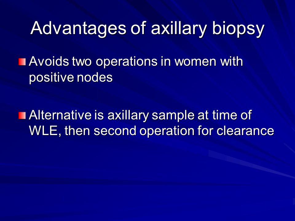 Advantages of axillary biopsy