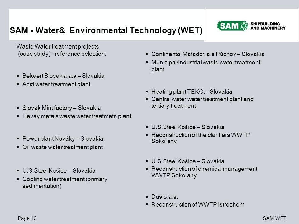 SAM - Water& Environmental Technology (WET)