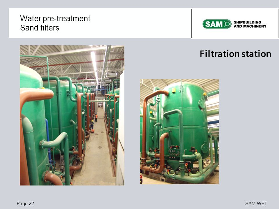 Water pre-treatment Sand filters