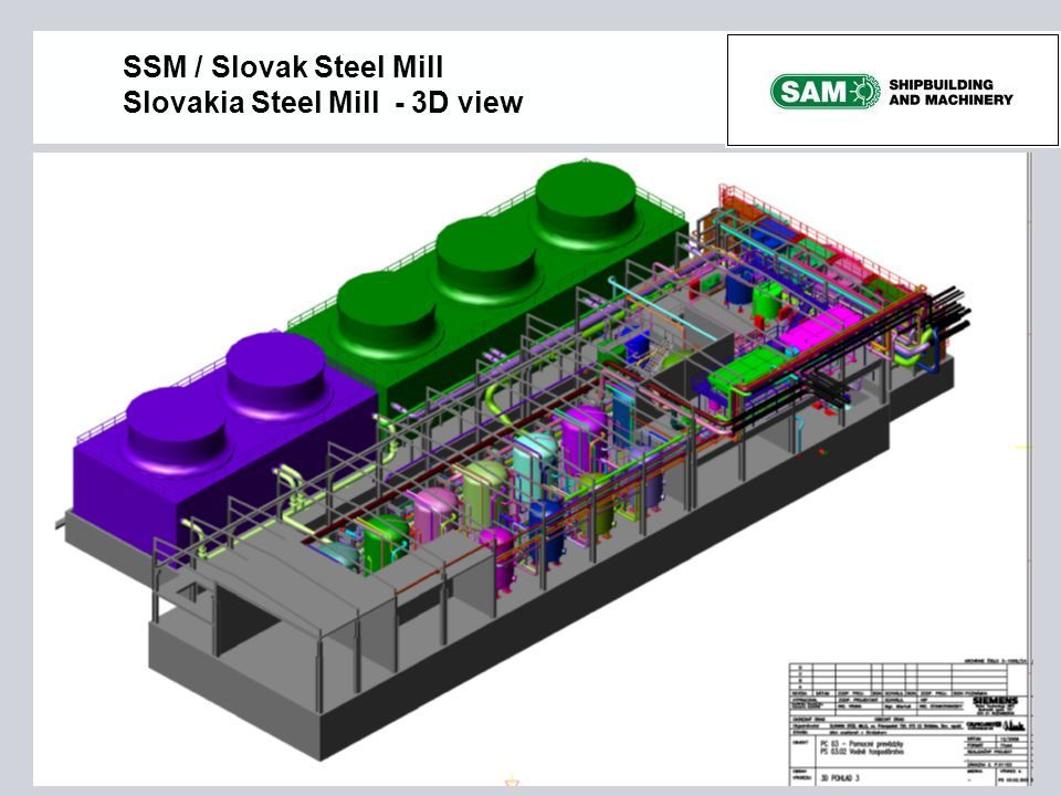 SSM / Slovak Steel Mill Slovakia Steel Mill - 3D view