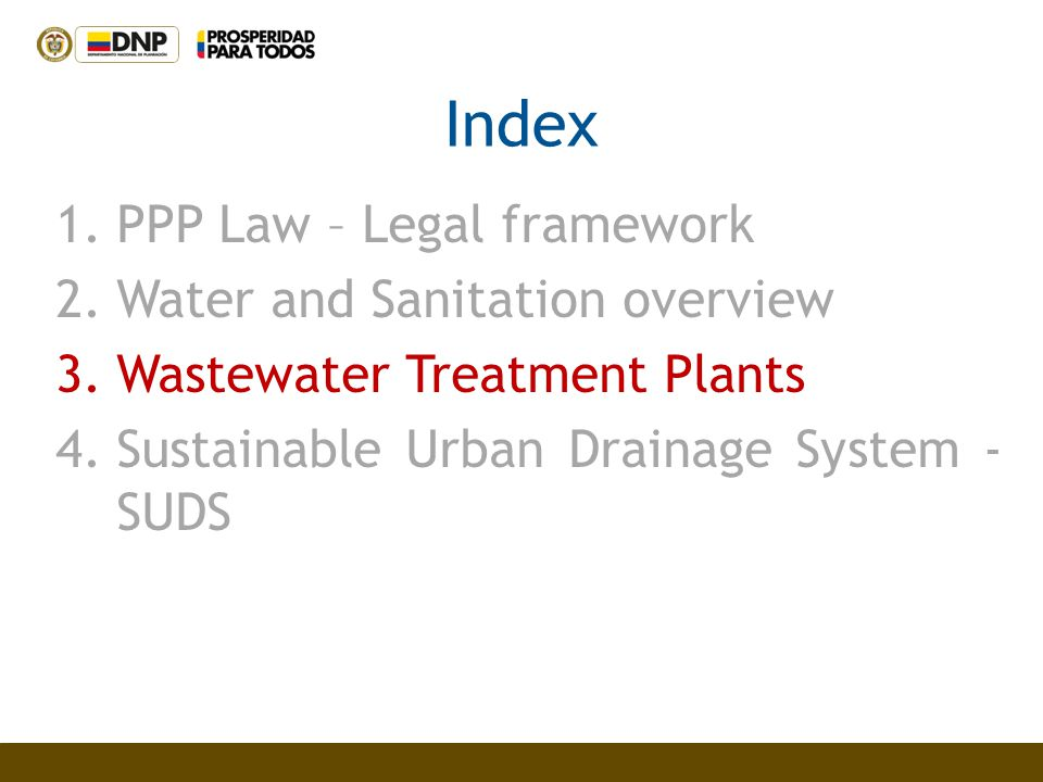 Index PPP Law – Legal framework Water and Sanitation overview