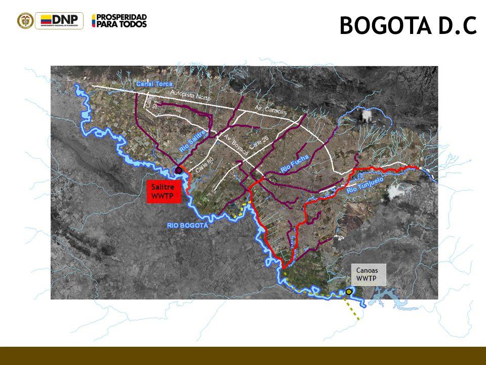 BOGOTA D.C Canoas WWTP Salitre WWTP