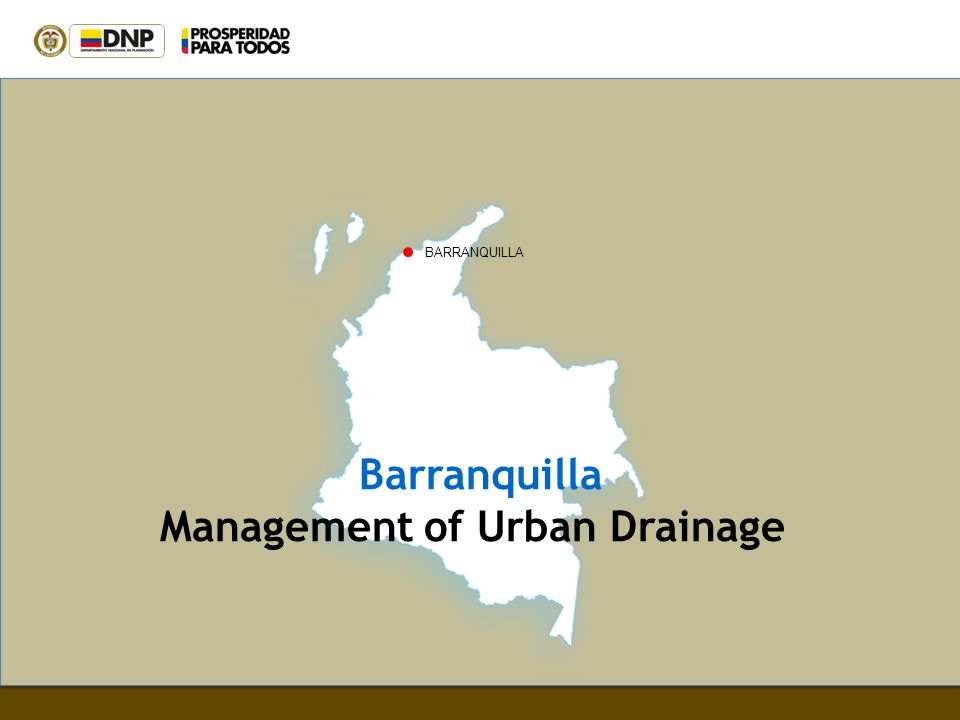 Management of Urban Drainage