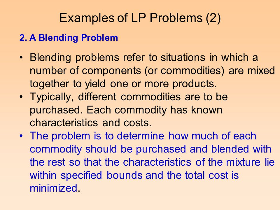 Examples of LP Problems (2)