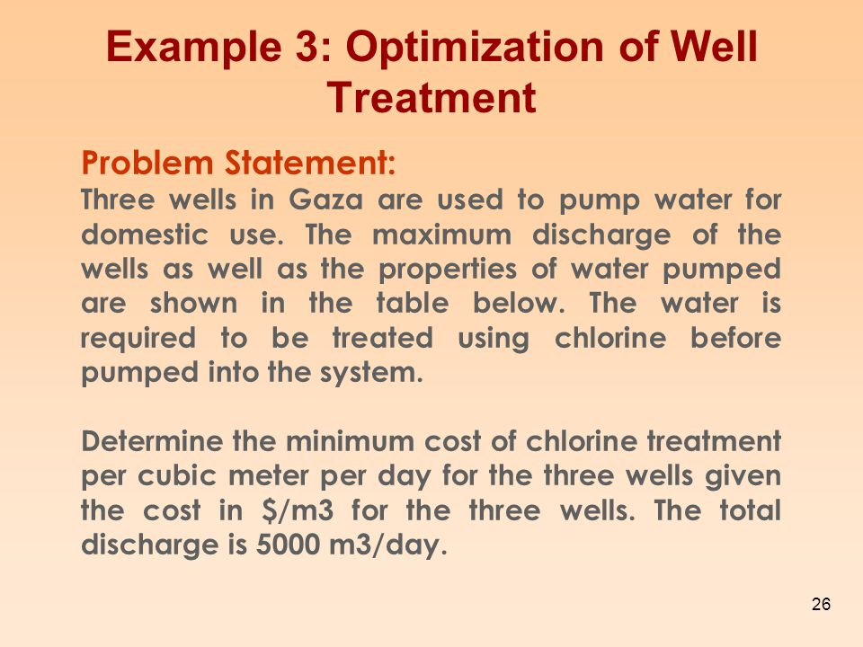 Example 3: Optimization of Well Treatment