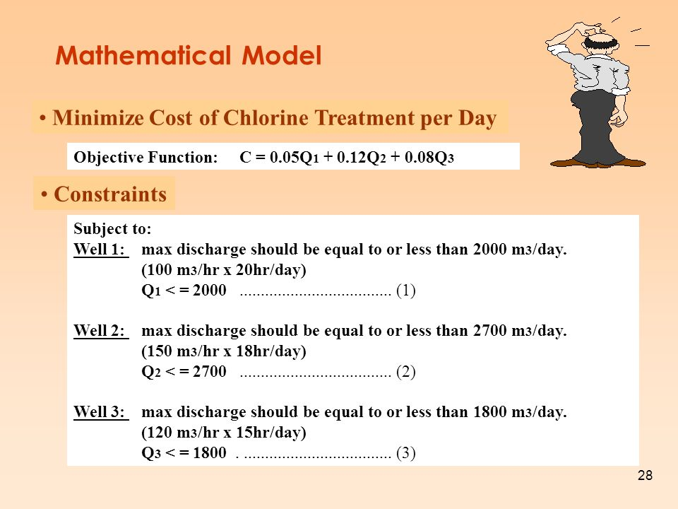 Mathematical Model Minimize Cost of Chlorine Treatment per Day