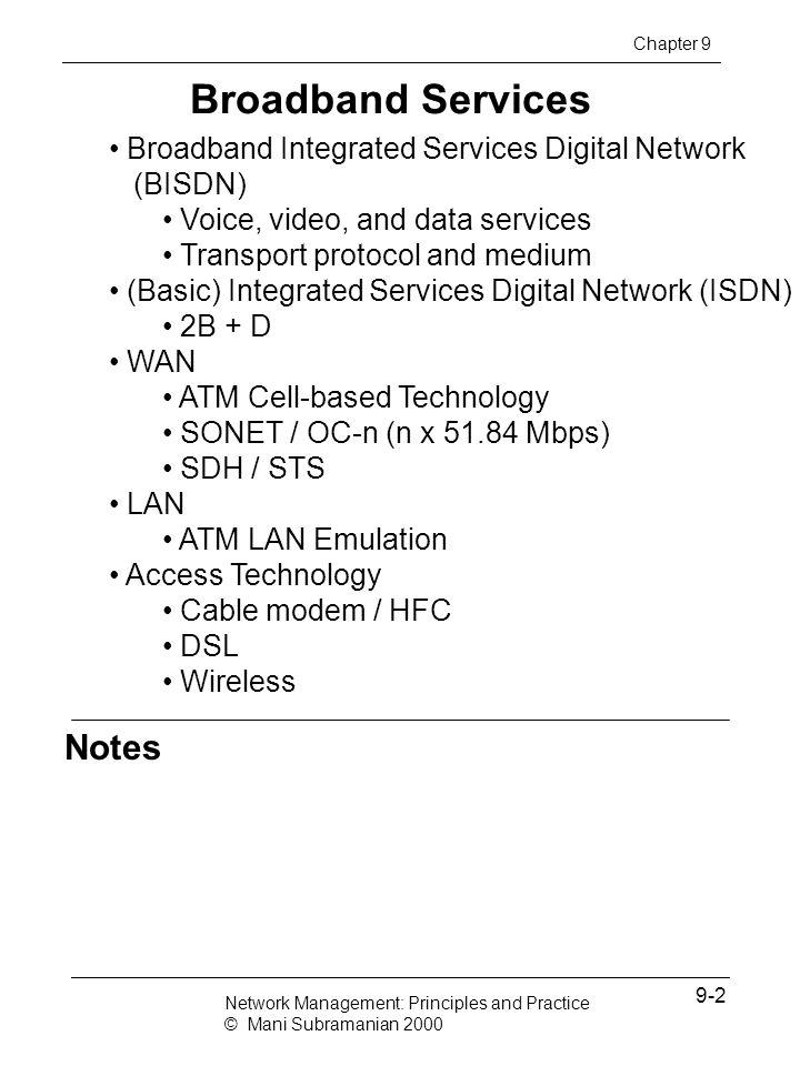 Broadband Services Notes