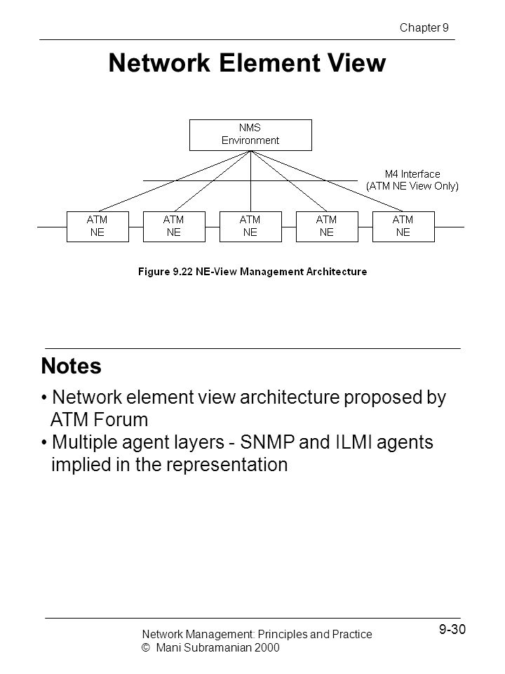 Network Element View Notes