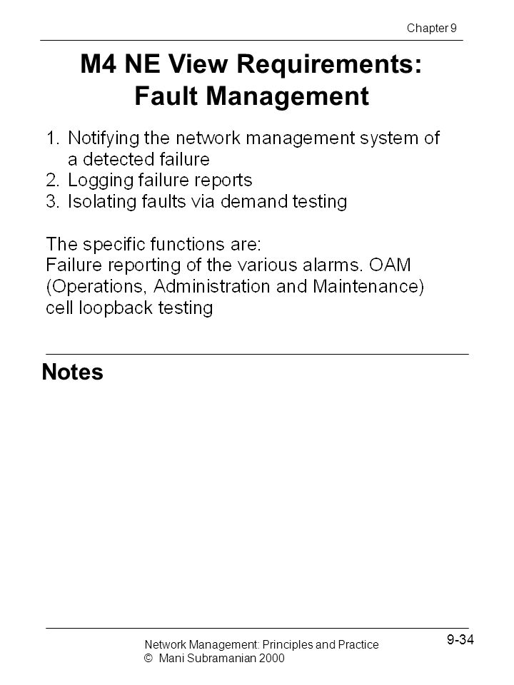 M4 NE View Requirements: