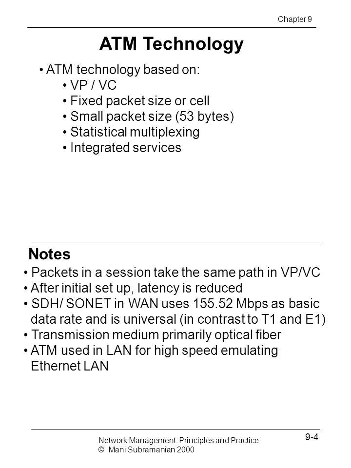 ATM Technology Notes ATM technology based on: VP / VC