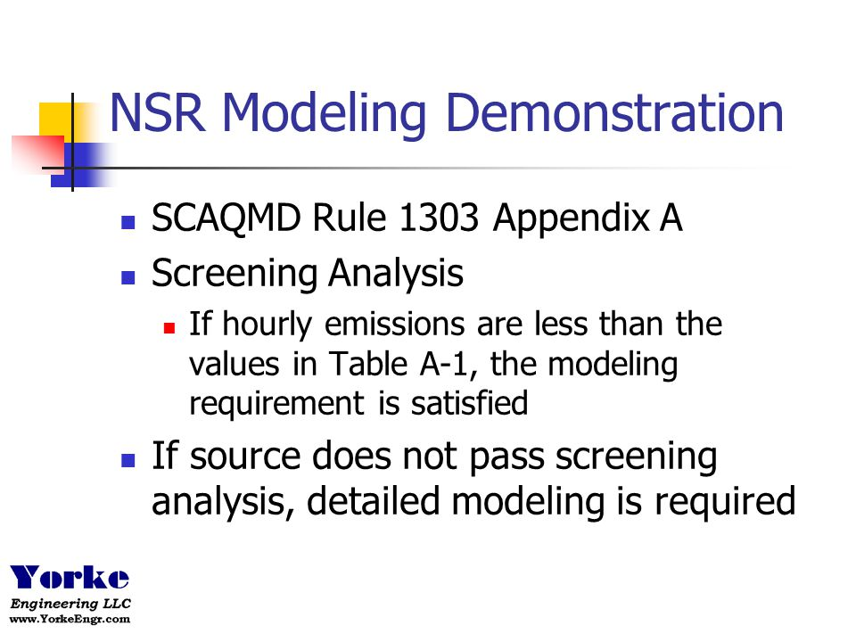 NSR Modeling Demonstration