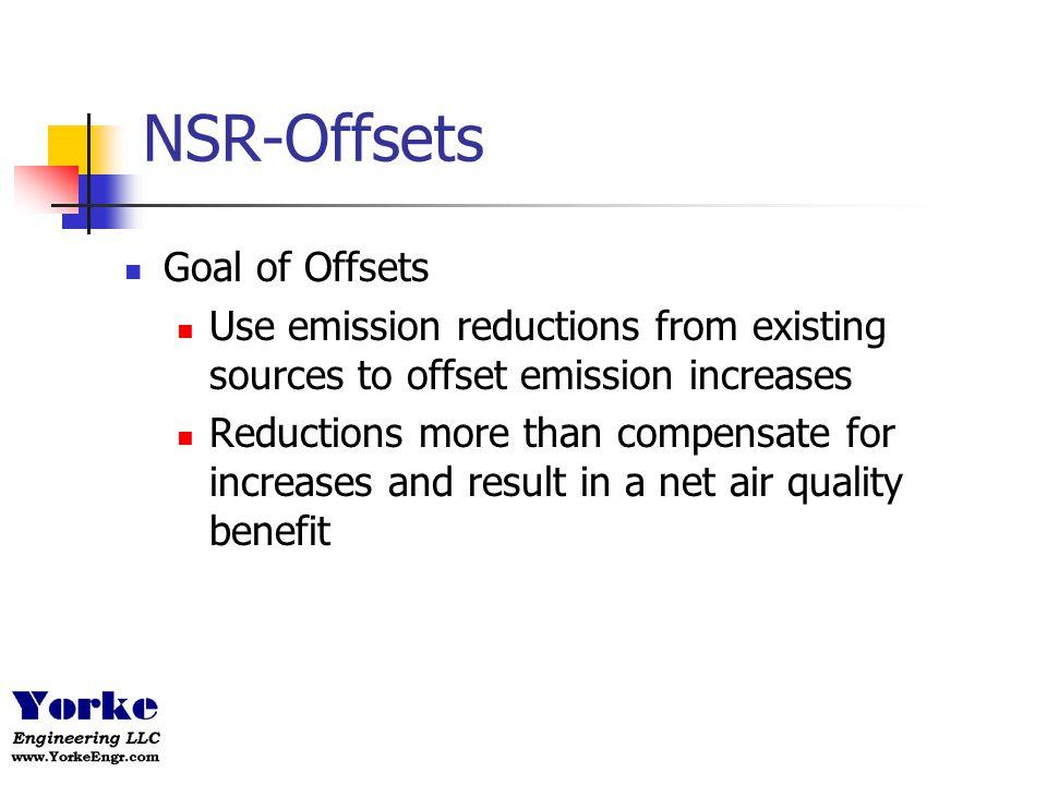 NSR-Offsets Goal of Offsets
