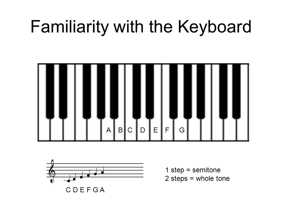Familiarity with the Keyboard