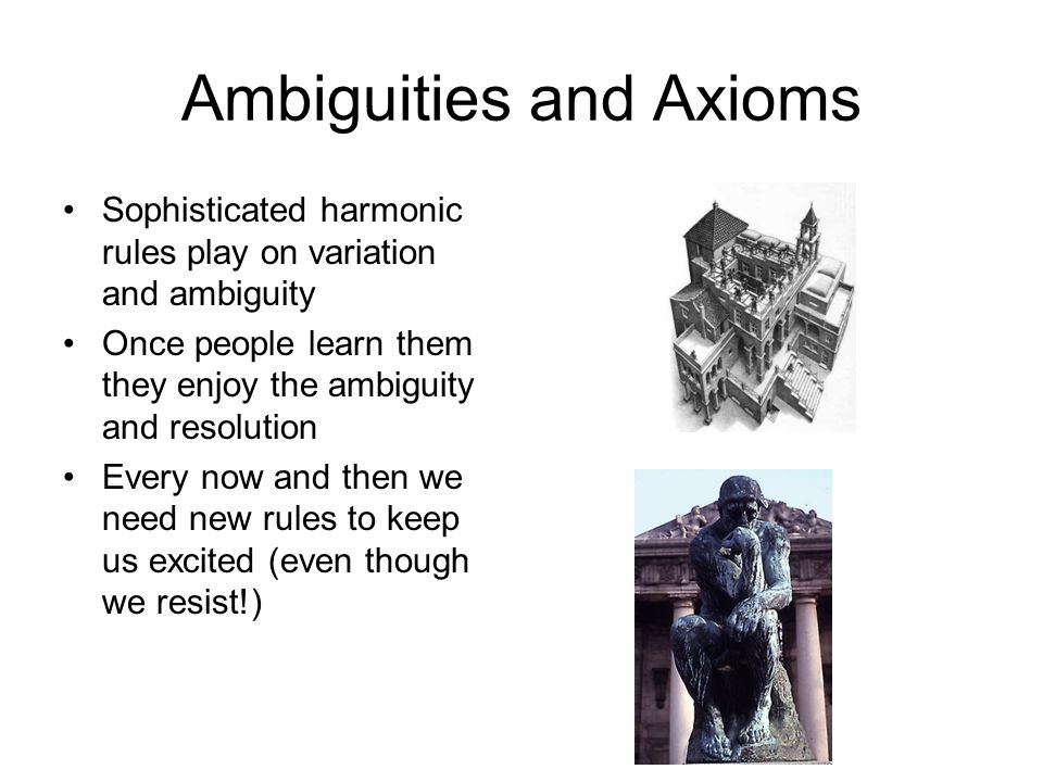 Ambiguities and Axioms