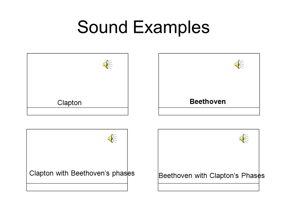 Sound Examples Beethoven Clapton Clapton with Beethoven's phases
