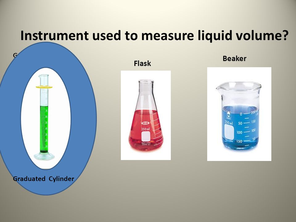 Instrument used to measure liquid volume