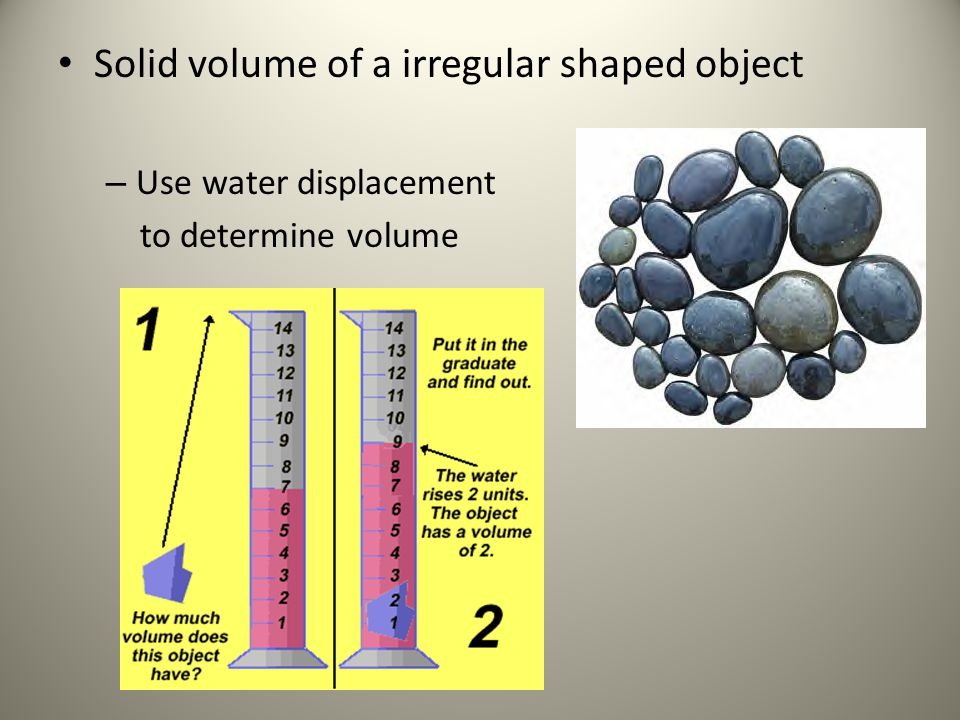 Solid volume of a irregular shaped object
