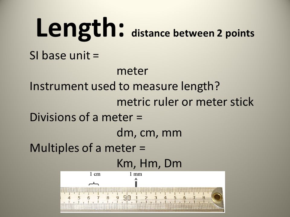 Length: distance between 2 points