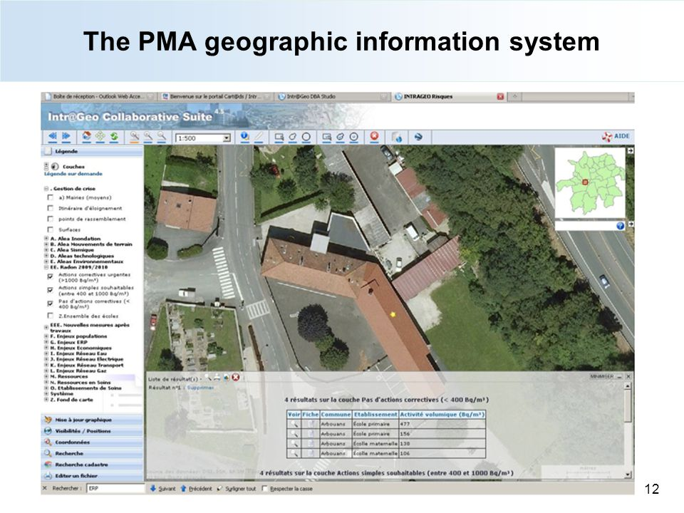 The PMA geographic information system