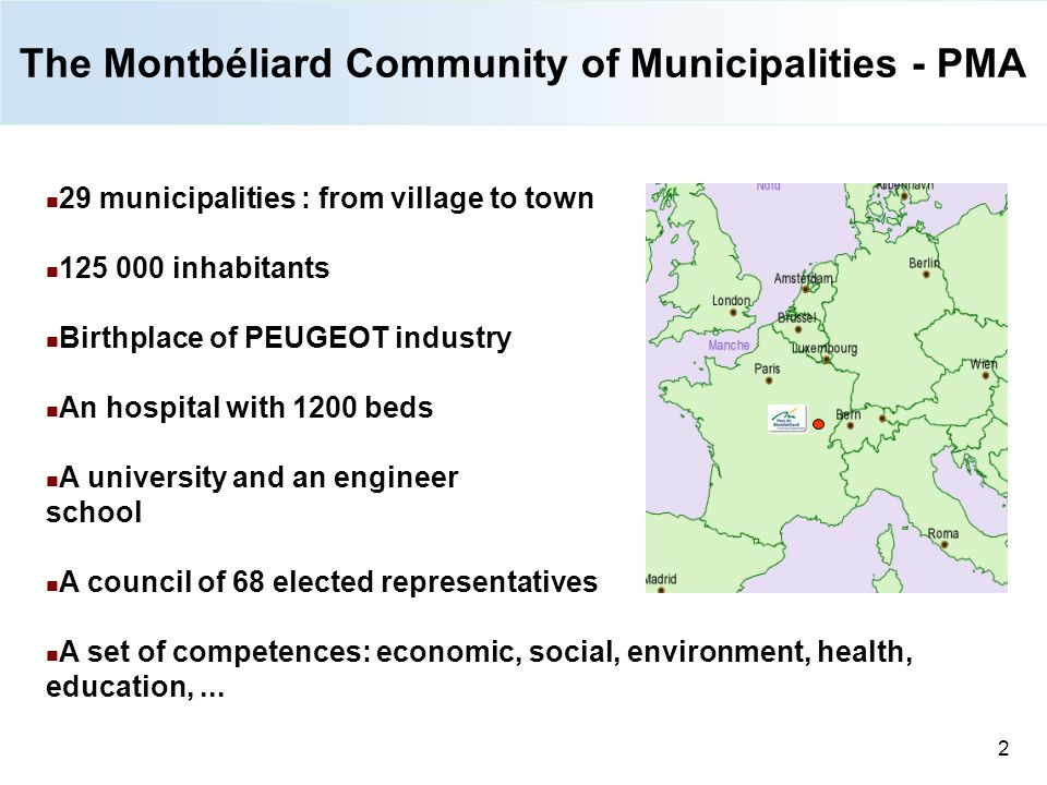 The Montbéliard Community of Municipalities - PMA