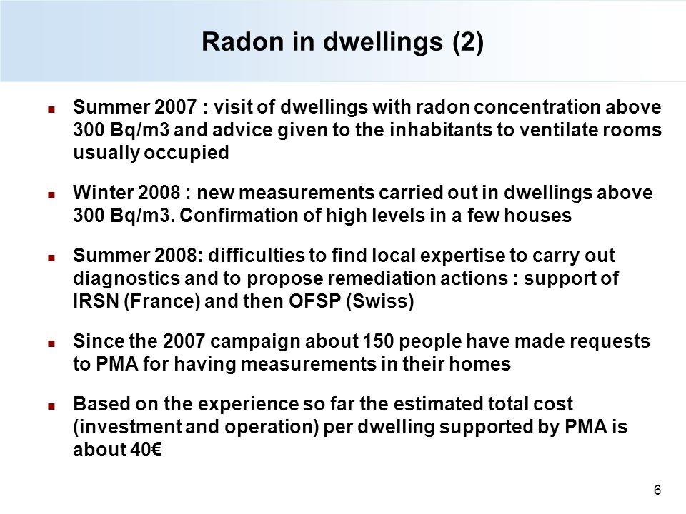 Radon in dwellings (2) 27/08/12.