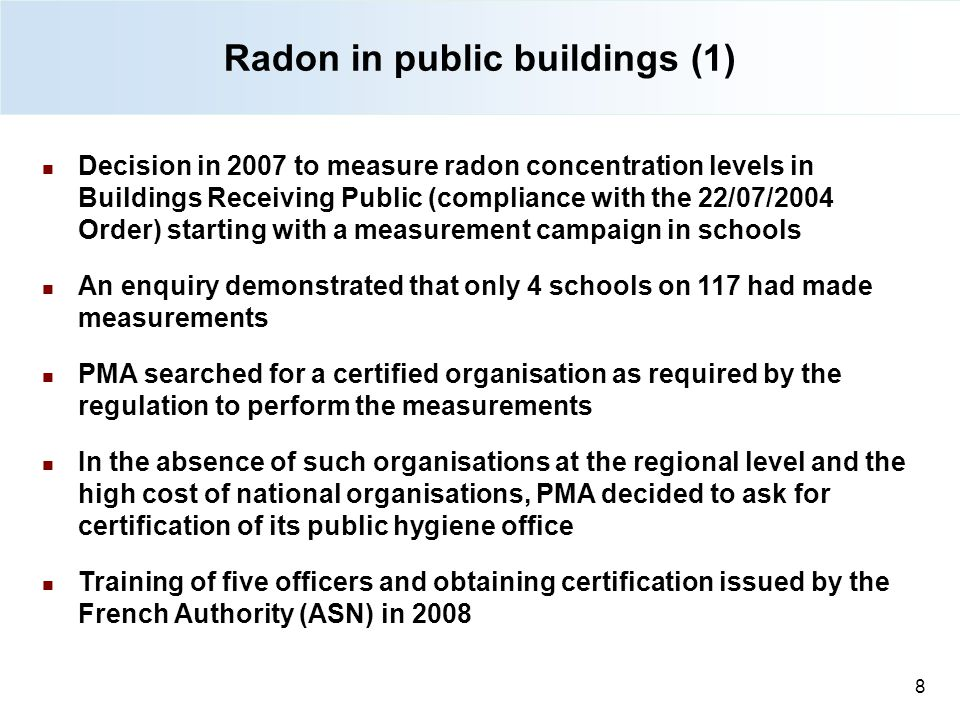 Radon in public buildings (1)
