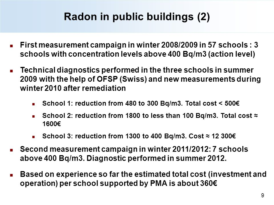Radon in public buildings (2)