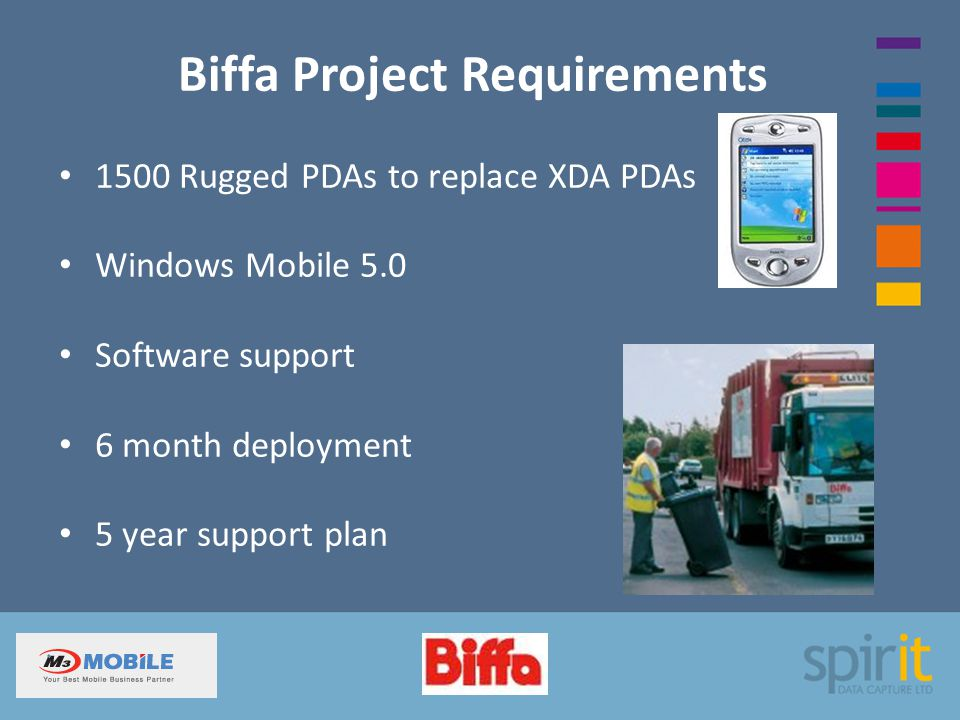 Biffa Project Requirements