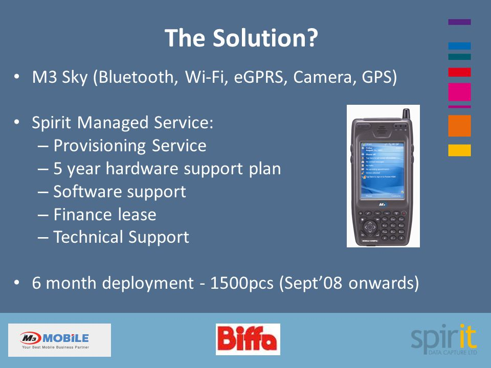 The Solution M3 Sky (Bluetooth, Wi-Fi, eGPRS, Camera, GPS)