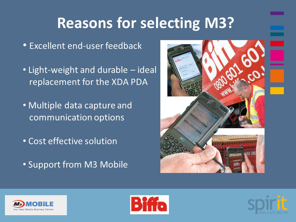 Reasons for selecting M3