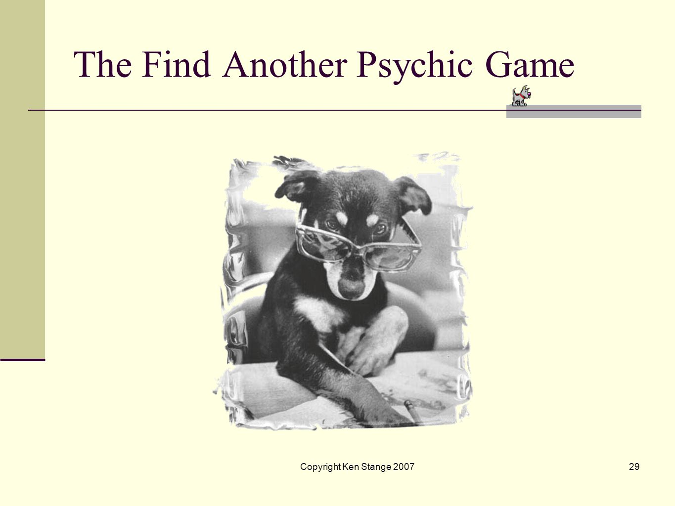 The Find Another Psychic Game