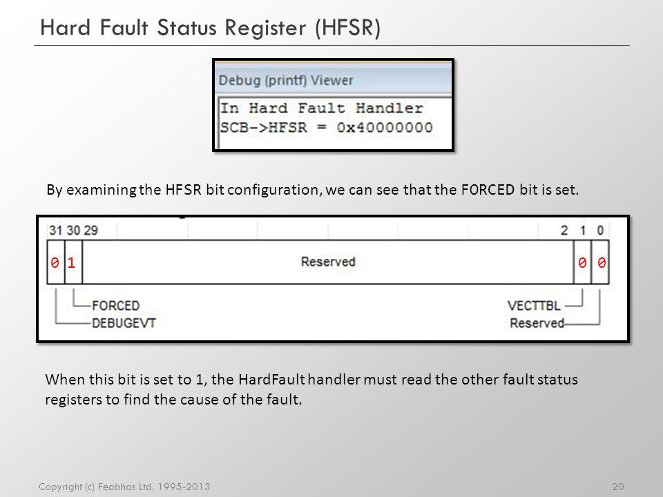 Hard Fault Status Register (HFSR)