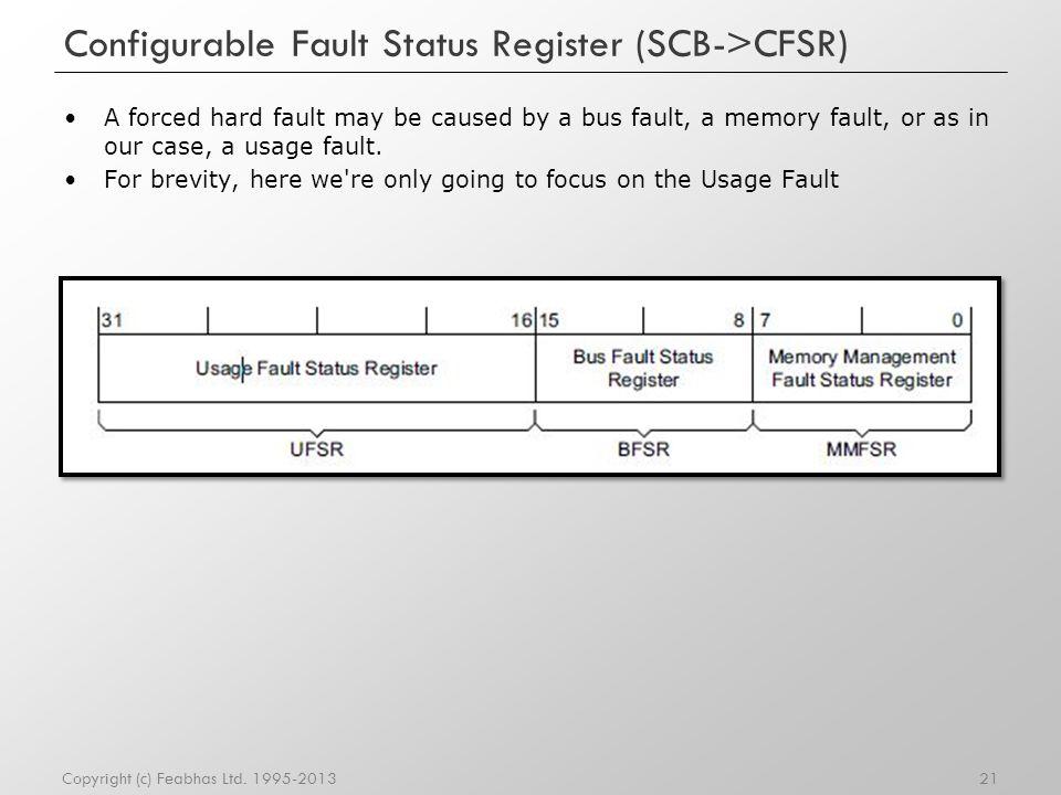 Configurable Fault Status Register (SCB->CFSR)